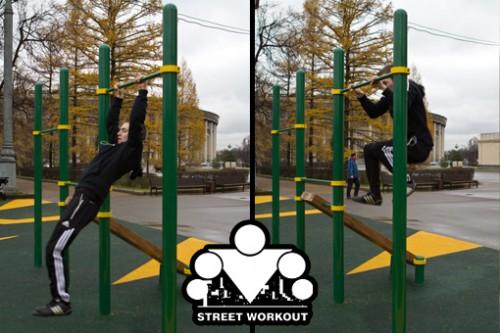 Street Workout: Выход силой на турнике
